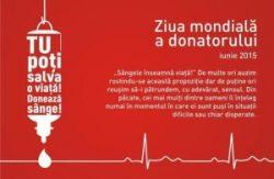 Campanie de donare de sânge, de Ziua Mondială a Donatorului