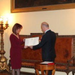 Carmen Drăgan, Președinte al Spitalului Monza, decorată cu Ordinul Steaua Italiei în grad de Cavaler