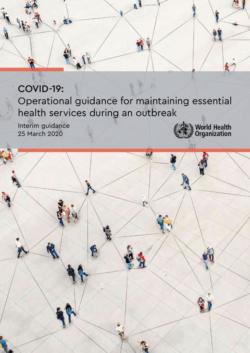 Ghid operațional pentru menținerea serviciilor de sănătate esențiale în timpul pandemiei