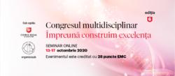 """NOUTĂȚI. Congresul multidisciplinar """"Împreună construim excelența""""- ediția 2020"""