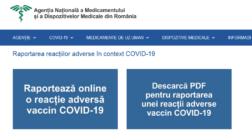 Reacțiile adverse la vaccinurile împotriva COVID-19, raportate pe site ANMDMR